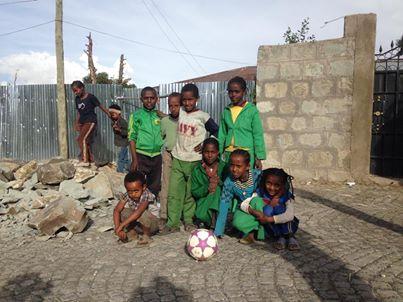 Ethiopian Kids Get Soccer Ball